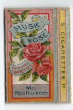 Collectable Rare Cigarette packet Musk Rose by Clarke #035